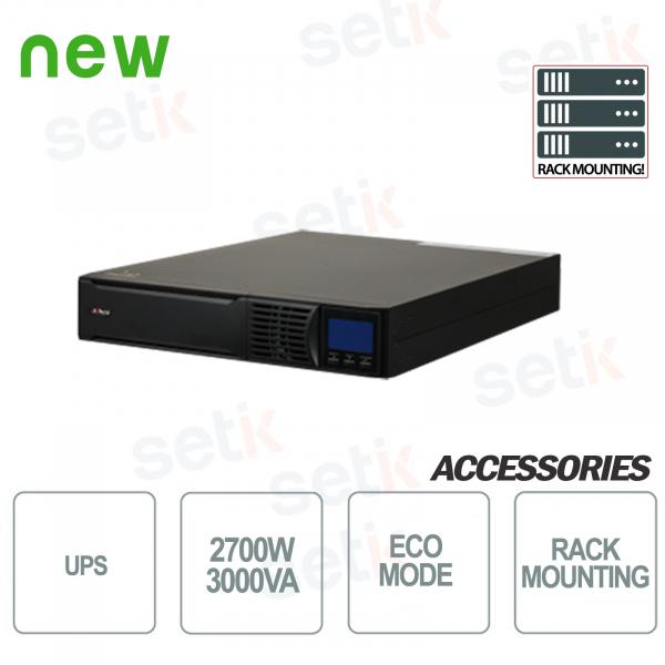 Sistema de alimentación ininterrumpida UPS 3000VA 2700W RACK
