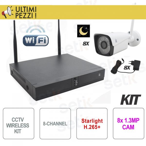 8-Channel H.265 Starlight Setik Wireless IP Video Surveillance