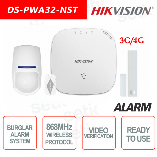 Hikvision Kit di Allarme Professionale 868MHz Wireless senza fili AXIOM Hub 3G/4G