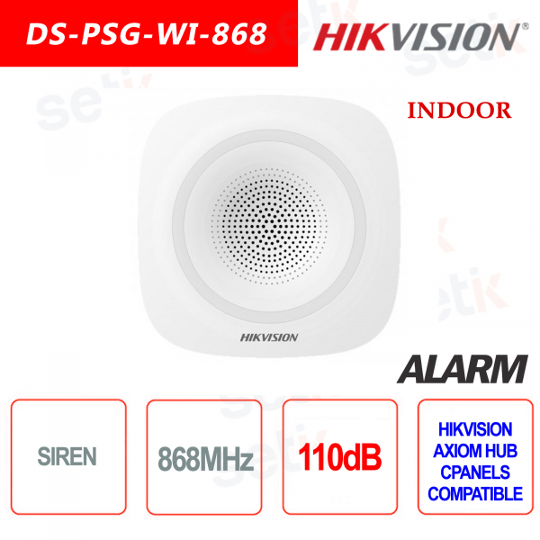 Hikvision AXIOM HUB WiFi alarm siren indoor 868MHz