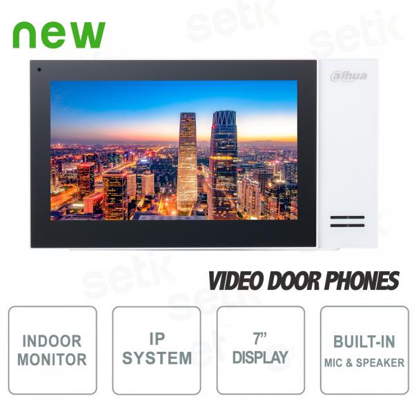 """Postazione interna IP Dahua Monitor SIP 7"""" Touch PoE MicroSD"""