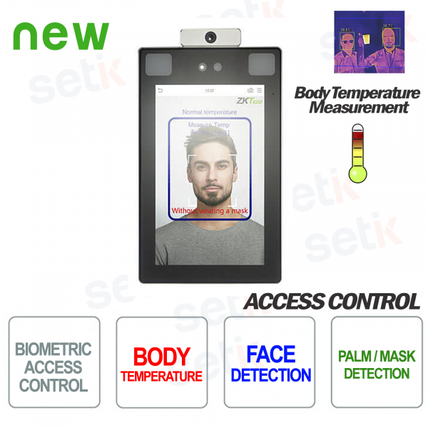 ProFace X [TD] ZKTeco Biometric Reader Face Recognition Temperature Measurement Mask Detection
