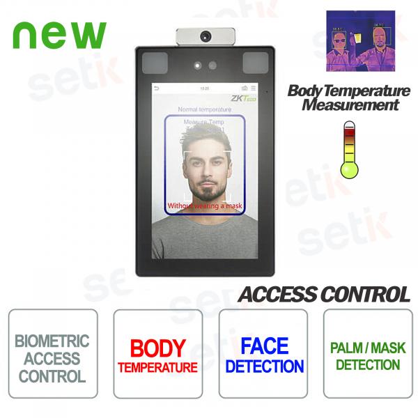 ProFace X [TD] ZKTeco Lettore Biometrico Riconoscimento Facciale Misurazione Temperatura Rilevamento Mascherina