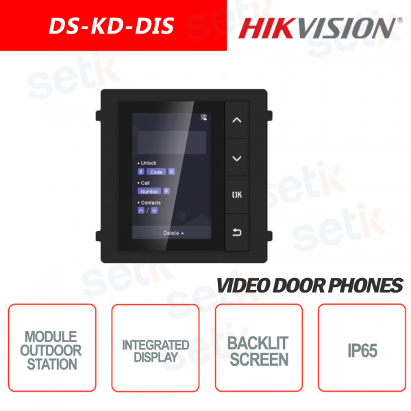 External expansion module 3.5 inch display Backlit IP65 - HIKVI