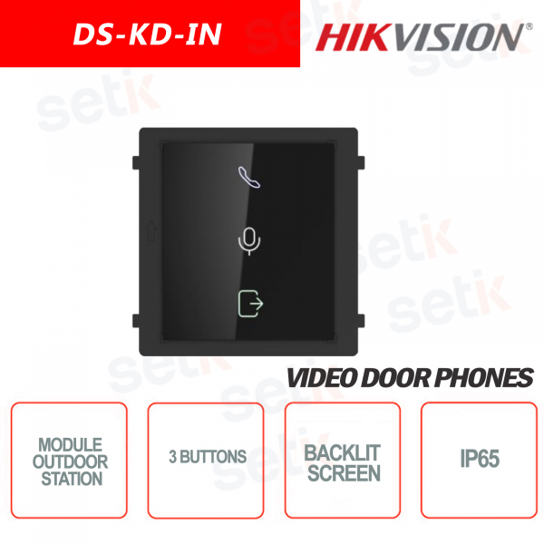 External expansion module status display 3 buttons backlit screen - HIKVI