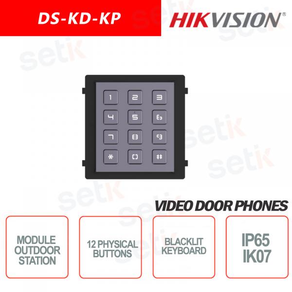External expansion module Keypad 12 physical keys backlit IP65 IK07 - HIKVI