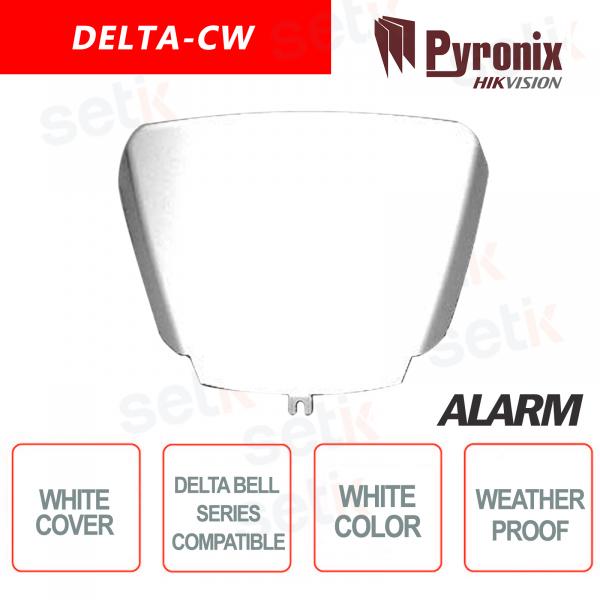 Coperchio Sirena Allarme DELTA Pyronix Hikvision in policarbonato bianco