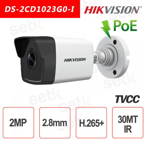 Hikvision IP PoE 2.0 MP IR H.265 + 2MP 2.8mm Bullet Ca