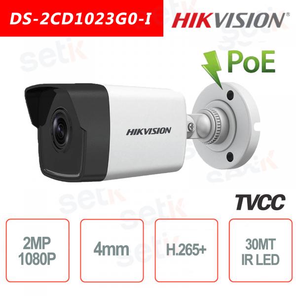 Hikvision IP Camera PoE 2.0 MP IR H.265 + Bullet Camera 2MP 4mm