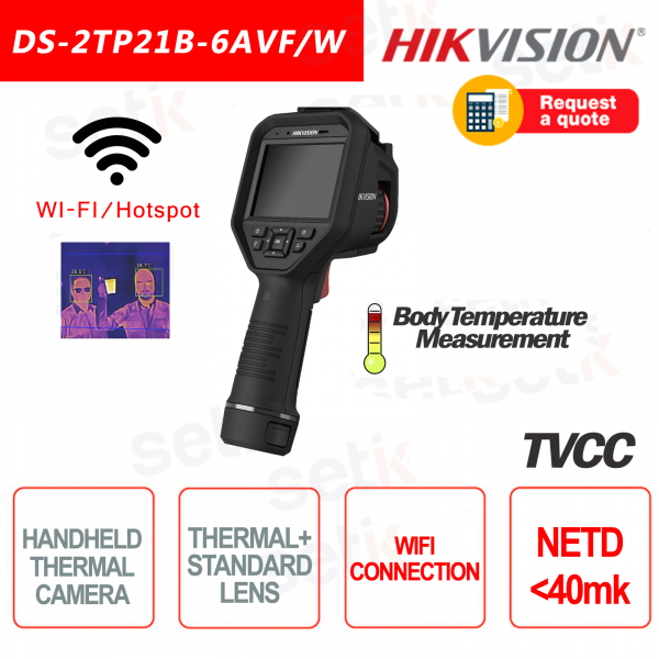 Thermal Camera Hikvision Bi-Spectrum HandHeld 40mk WiFi Portable Ca