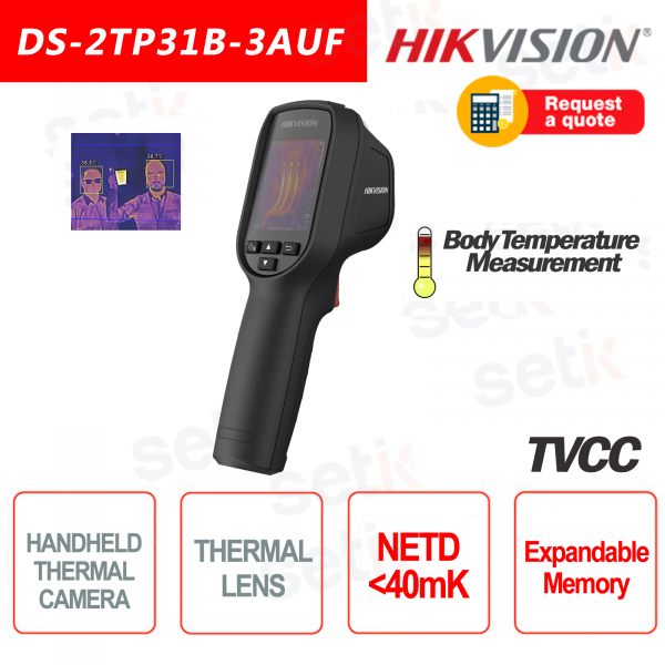 Cámara Térmica Hikvision HandHeld 40mk Portable Camera