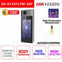 Controllo Accessi Hikvision Riconoscimento Facciale Misurazione Temperatura Mascherina Mifare Card