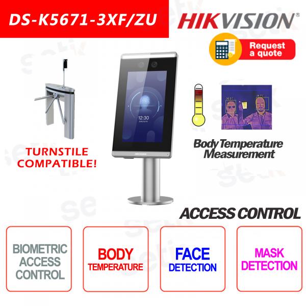 Controllo Accessi Hikvision Riconoscimento Facciale Misurazione Temperatura Rilevamento Mascherina