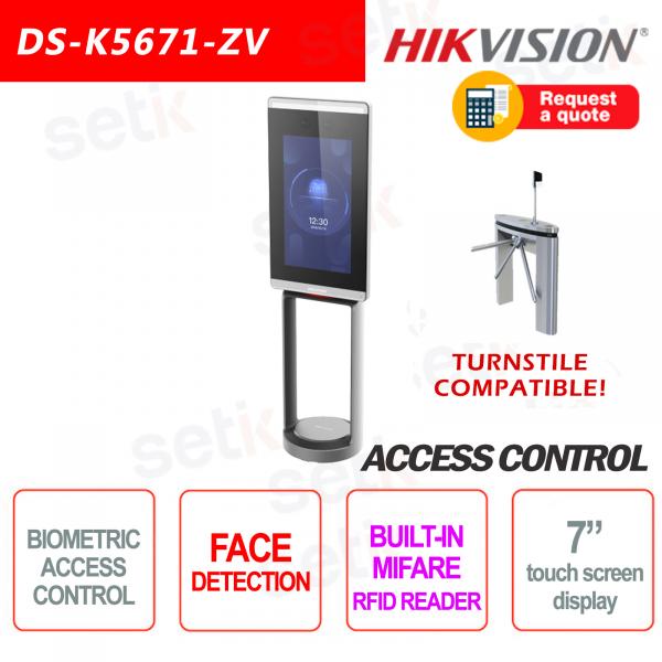 Hikvision Access Control Turnstiles MIFARE Facial Recognition Terminal