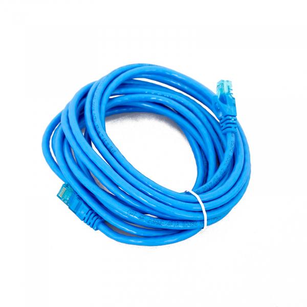 Cavo di rete CAT6 5mt Azzurro Patch Cord con connettori