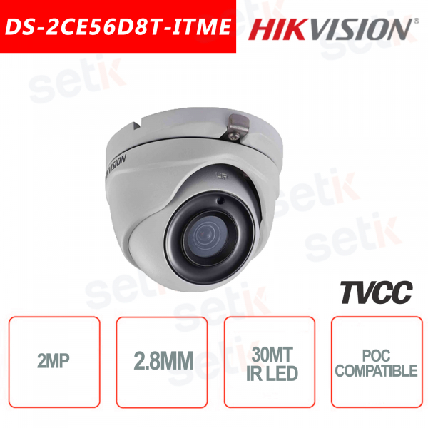 Hikvision 2MP Turret Camera HD-TVI 2.8mm IR