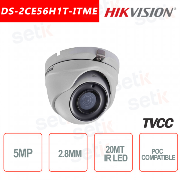 Hikvision 5MP Turret Camera HD-TVI 2.8mm IR
