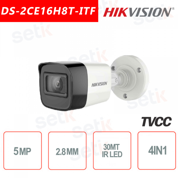 Telecamera Hikvision 5MP Bullet Camera HD Turbo HD-TVI 4in1 2.8mm IR