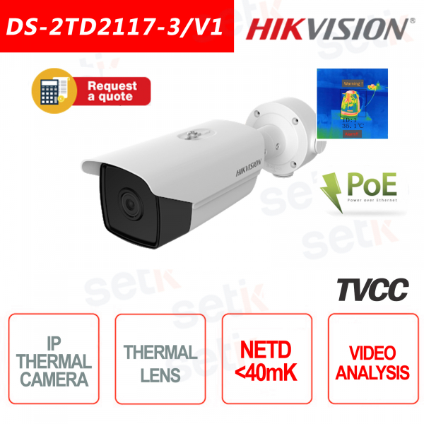 Hikvision Bullet 40mk Thermal IP Camera IVS Fire Alarm Ca