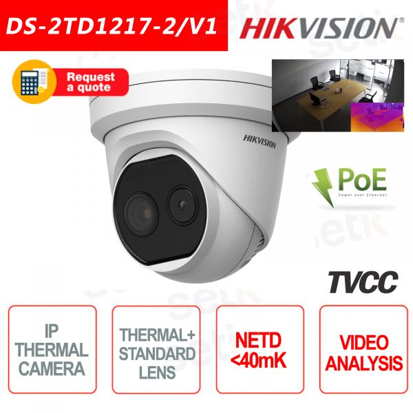 Thermal IP Camera Hikvision Turret Bi-Spectrum 40mk Ca