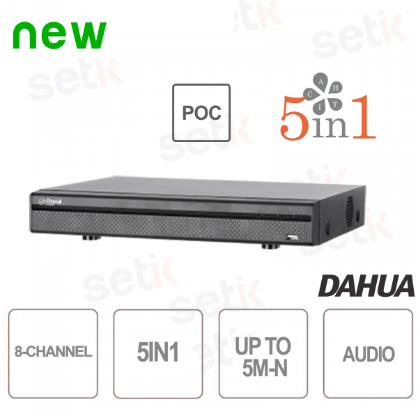 XVR 8 Canali 5M-N HDCVI AHD TVI ANALOGICO IP PoC - Dahua