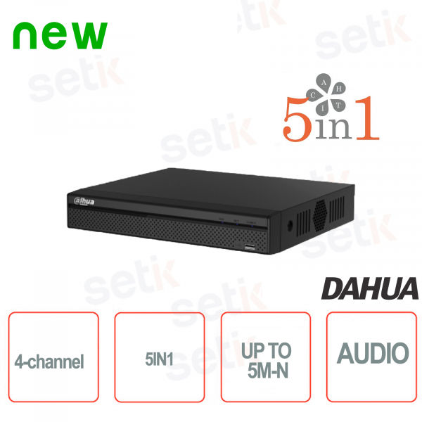 4-Channel DVR 5in1 HDCVI + AHD + TVI + ANALOG + IP 5M-N - Lite - D
