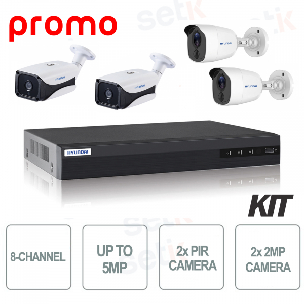 Hyundai Video Surveillance Kit 8 Channels 4 DVR Cameras