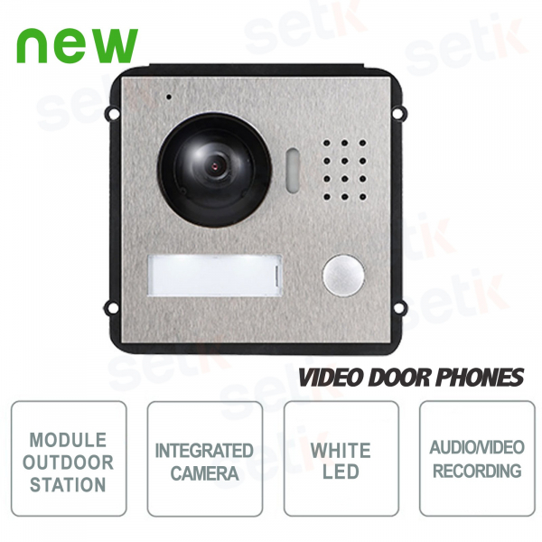 Modular Two-Wire Outdoor Station with 1.3Mp 120 ° Camera and Lighting - Vandal-proof - D
