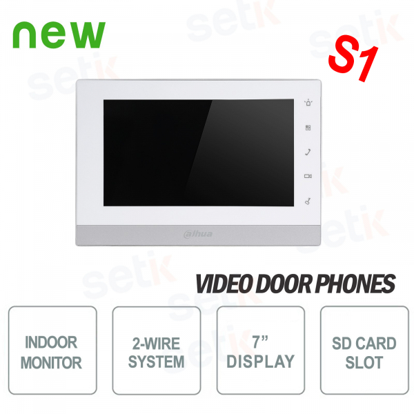 Two-wire Indoor Station 7 Touch SD Slot Alarm VERSION S1 - D