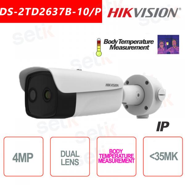 Telecamera Termica Hikvision Bi-spectrum Professionale Bullet Temperatura Corpo 9.7 mm