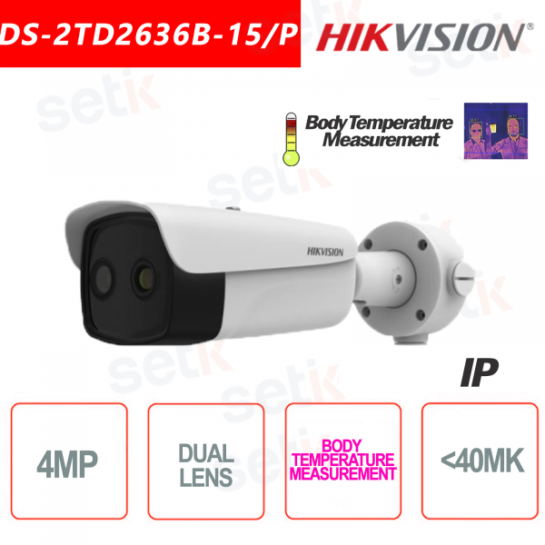 Hikvision Bi-spectrum Professional Thermal Camera Body Temperature 15mm