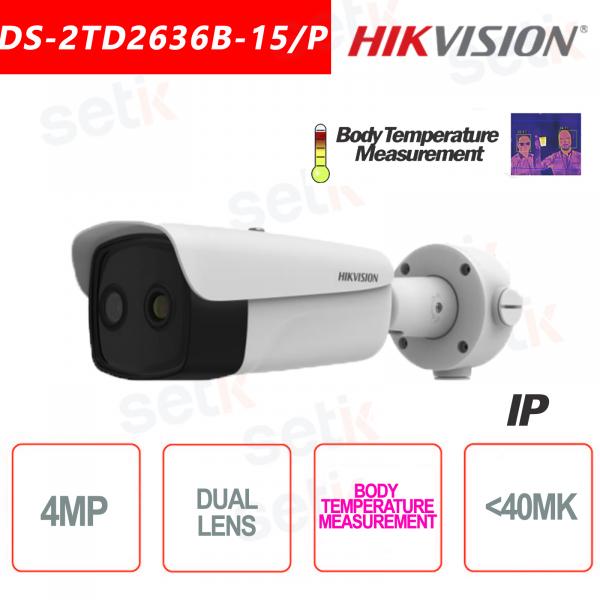 Telecamera Termica Hikvision Bi-spectrum Professionale Temperatura Corpo 15mm