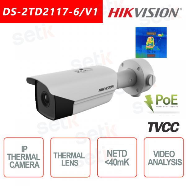 Telecamera IP Termica Hikvision Bullet 40mk Camera IVS Allarme Incendio