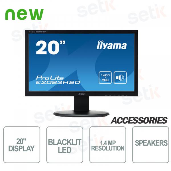 Monitor ProLite 20 - DVI - VGA - Speaker - Attacco Vesa - IIYAMA