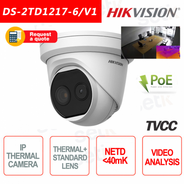 Thermal Camera Hikvision Turret Bi-spectrum Fire Alarm Ca