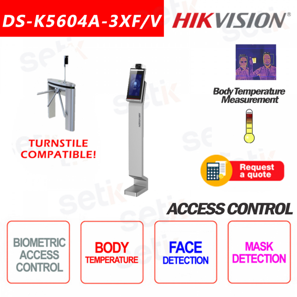 Access Control Hikvision Turnstiles Facial Recognition Mo