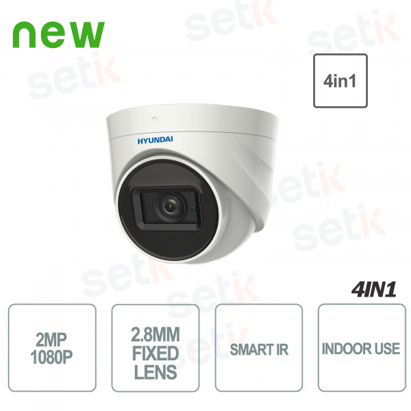 Hyundai 2 MP 4in1 Dome Camera Fixed Optic D