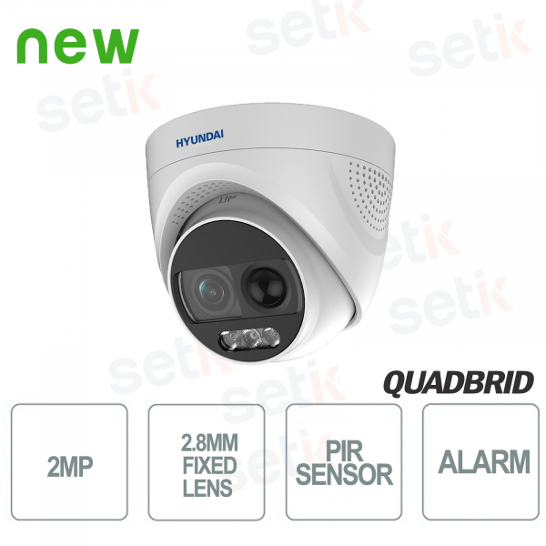 Hyundai 2 MP 4in1 Dome Camera Fixed PIR D-WDR Audio