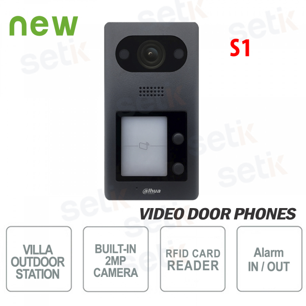 Outdoor station Dahua IP PoE video door phone 2 MP camera 2 buttons and Mifare S1 RFID re