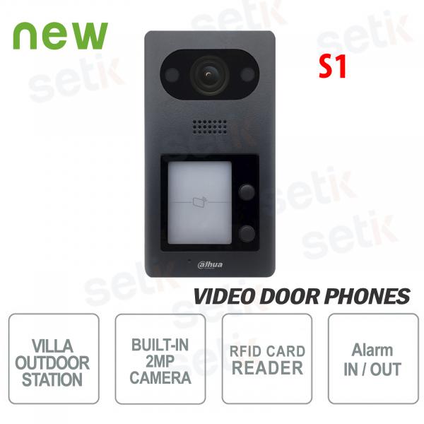 Postazione esterna Videocitofono Dahua IP PoE Telecamera 2 MP 2 Pulsanti e Lettore RFID Mifare S1
