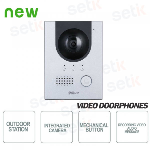 Outdoor station with 2Mp 160 ° camera - Vandal proof - D