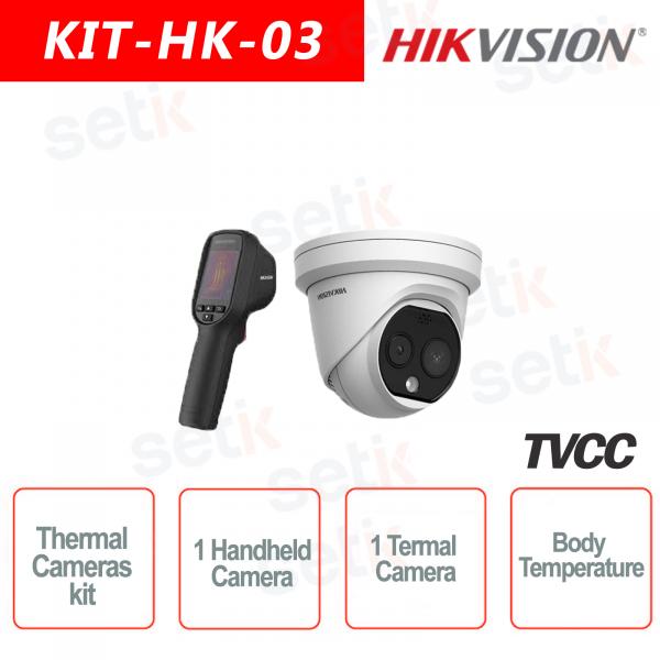 Kit IP Termico Telecamera Termica + 1 Handheld Camera Termica Hikvision