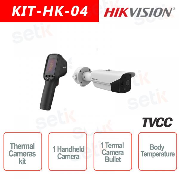 Thermal IP Kit Bullet Thermal Camera + 1 Hikvision Handheld Thermal Ca