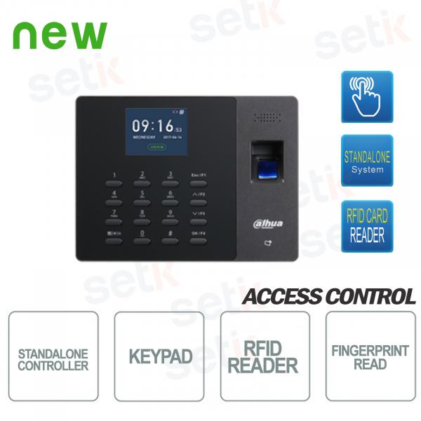 Terminale Biometrico Autonomo Controllo Accessi e Presenza Tastierino - Dahua