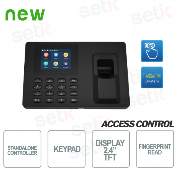 Autonomous Biometric Access Control and Presence Terminal - 2.4 Inch Screen - D
