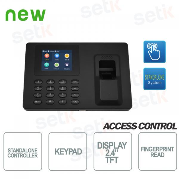 Terminale Biometrico Autonomo Controllo Accessi e presenza - Schermo 2.4 Pollici e tastiera - Dahua