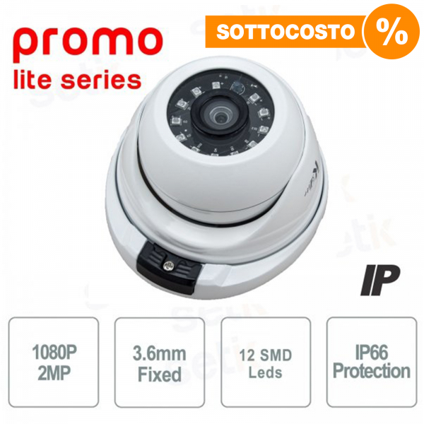 Telecamera IP Dome 2MP 1080P 3.6mm - Serie Promo - Setik