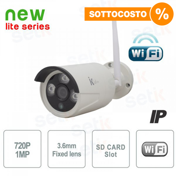 Telecamera IP Standalone 1MP 3.6mm IR Wireless - Serie Lite - Setik