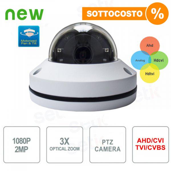 Telecamera PTZ AHD 2Mpx CVI TVI Analogica IR Setik