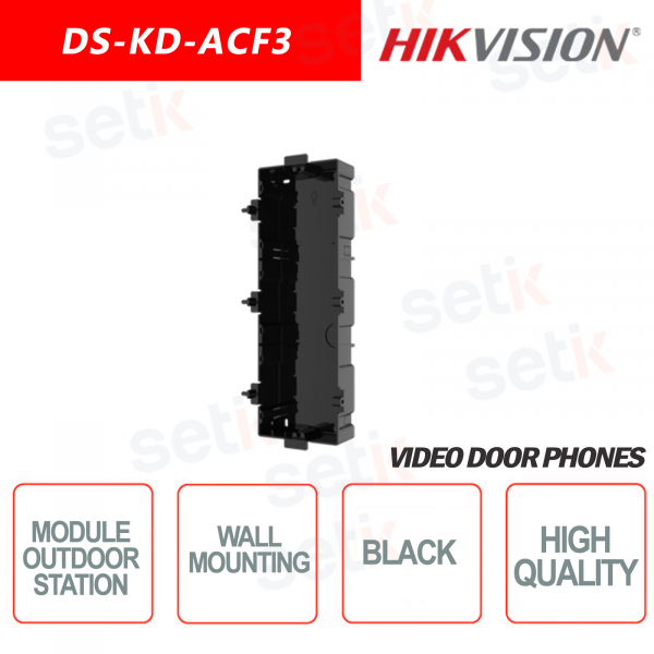 Recessed module for 3 modules - HIKVI
